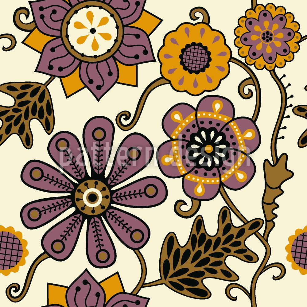 Design Wallpaper Floral Melancholy