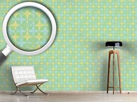 Design Wallpaper Half Circle Spring
