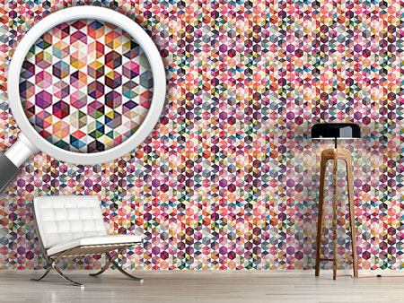 Papier peint design Hexagon Facets