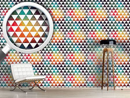 Papier peint design Radioactive Color Geometry