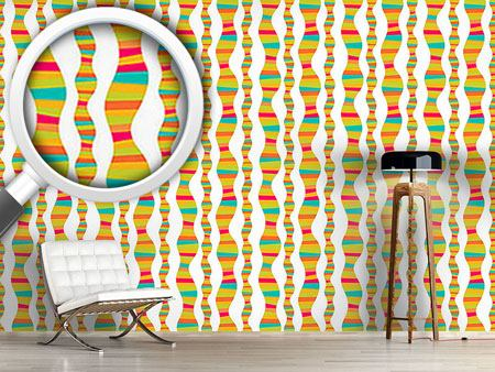 Design Wallpaper Clown Stripes