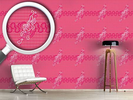 Design Wallpaper Pinky Paisley