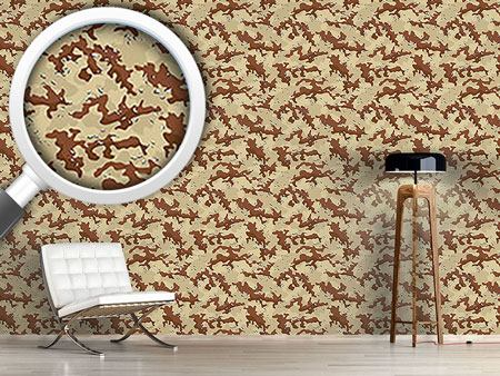 Design Wallpaper Old School Desert Camouflage