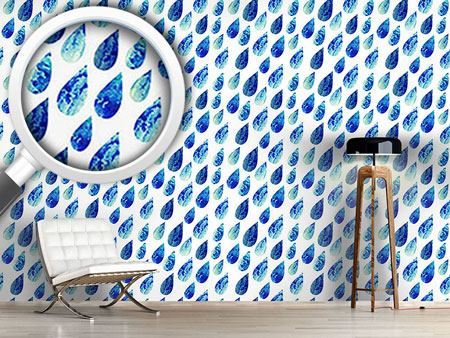 Design Wallpaper Watercolor Rain Drops