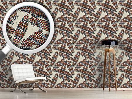 Design Wallpaper Indian Feathers