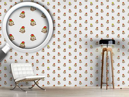 Design Wallpaper Funny Owls