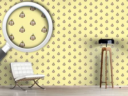 Design Wallpaper Funny Cartoon Owls