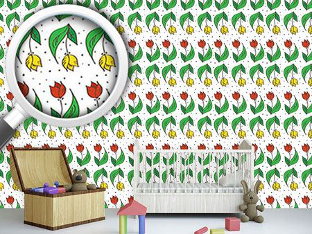 Design Wallpaper Happy Tulips