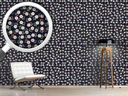 Design Wallpaper Girls Dream Of Flowers At Night