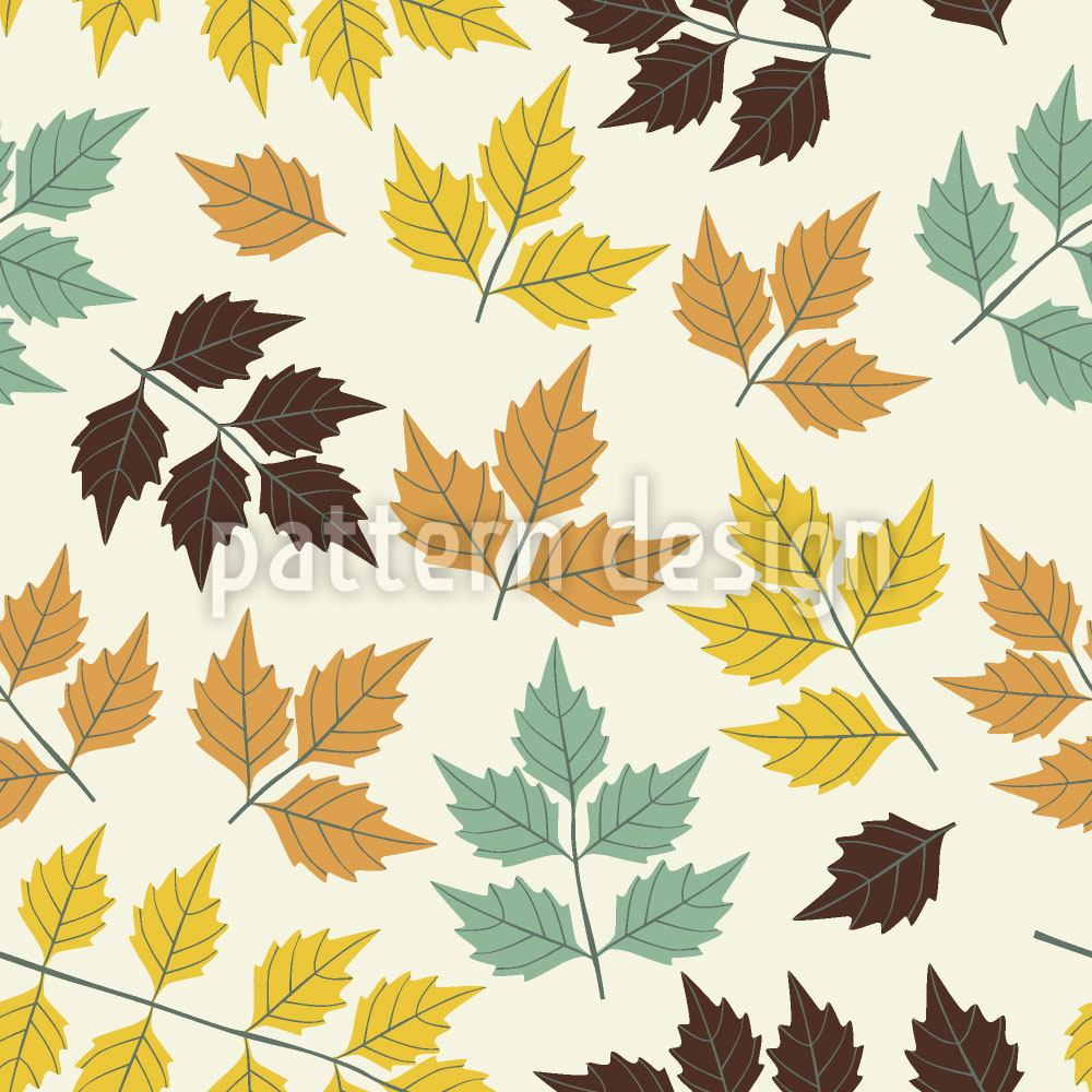 Papel tapiz de diseño First Symphony Of Leaves