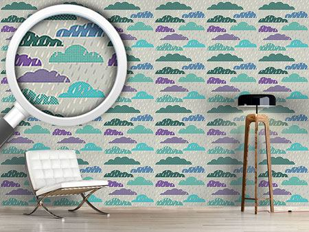 Design Wallpaper Heavy Rain Patchwork