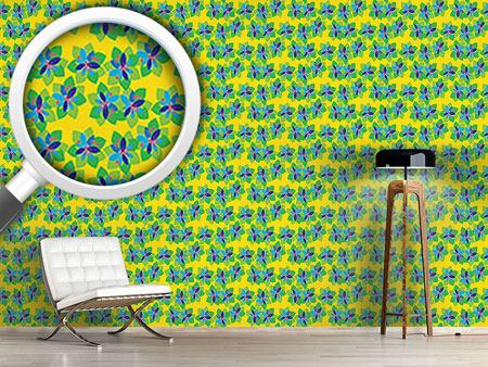 Design Wallpaper Tropical Paper Flowers