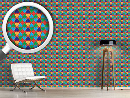 Design Wallpaper Buffoonery With Hearts