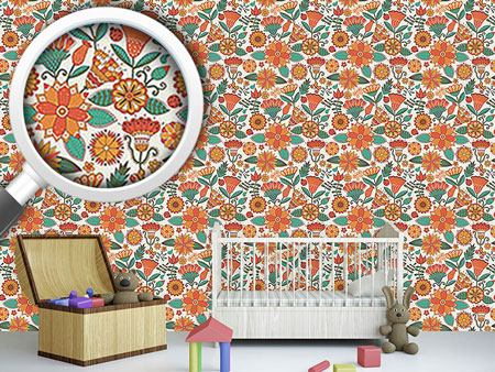 Design Wallpaper Enchanting Autumn Flowers