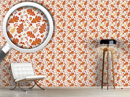 Design Wallpaper Acorn And Leaf In Cesky Herslak