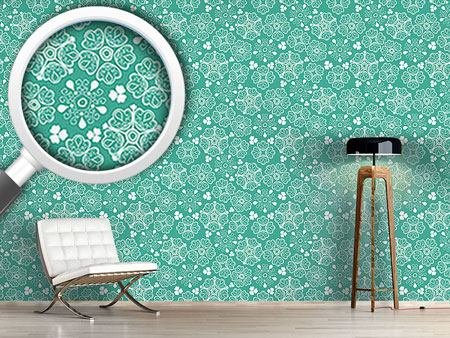 Design Wallpaper Lace Flowers