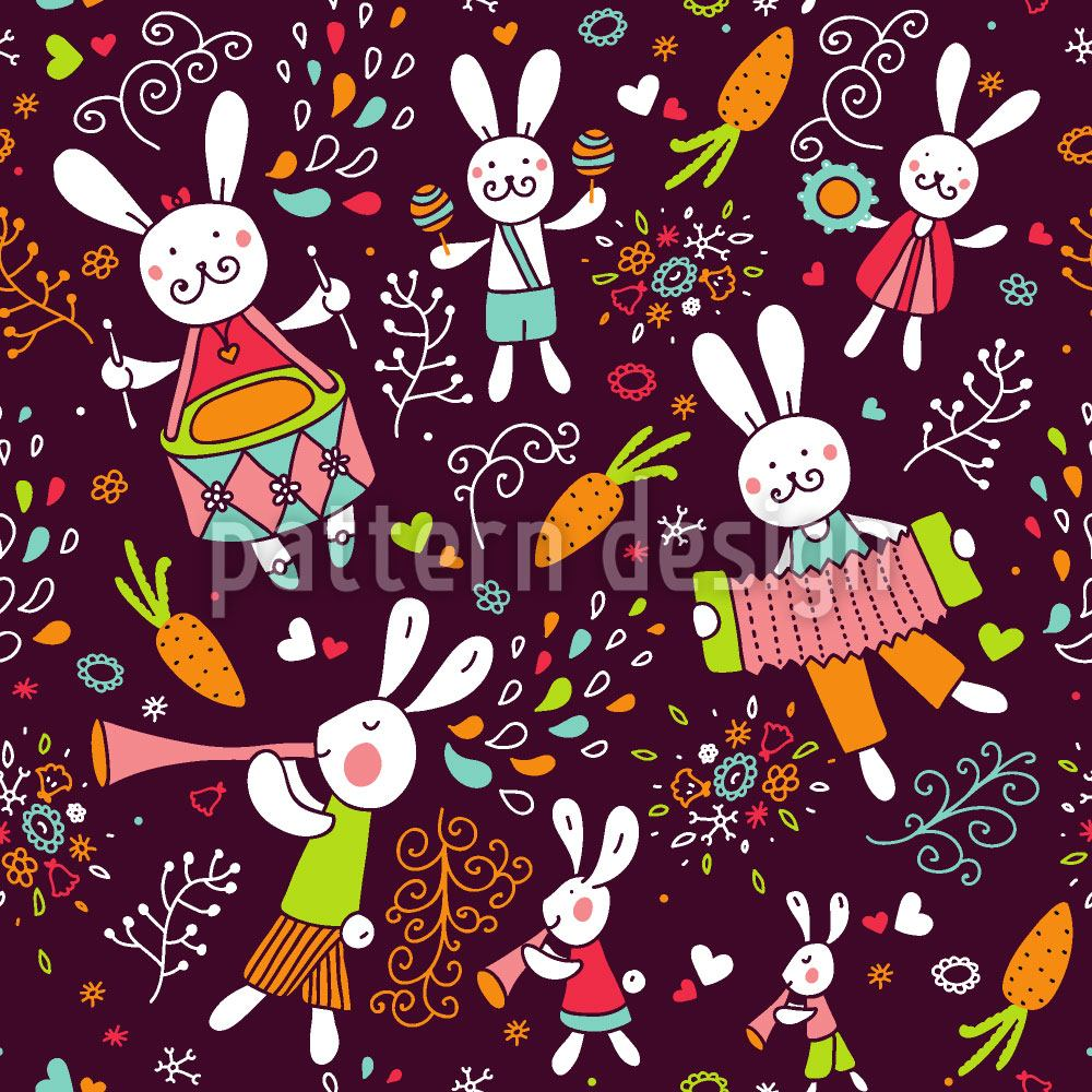 Papier peint design The Bunny Band
