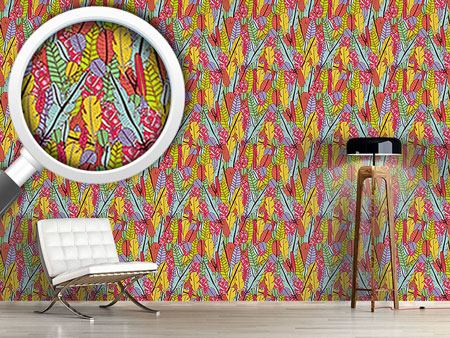 Design Wallpaper The Feathers Of The Paradise Birds