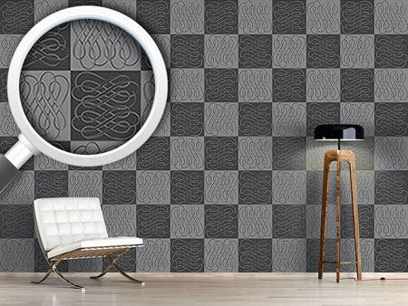 Design Wallpaper Checkerboard Bows