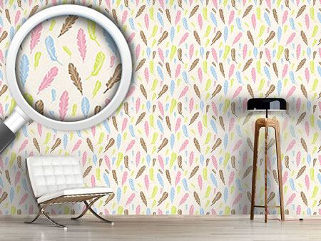 Design Wallpaper Magic Feathers
