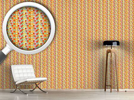 Design Wallpaper Flower Stripes