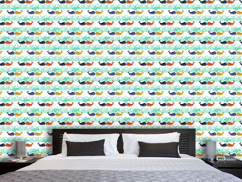 Design Wallpaper Whales In Love