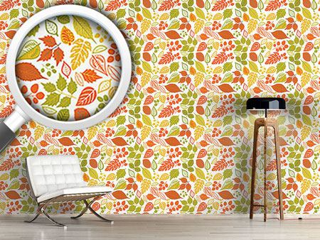 Design Wallpaper Bright Foliage
