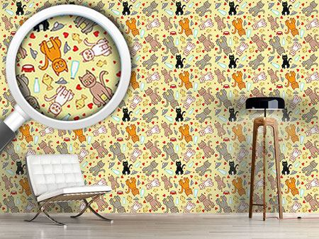Design Wallpaper We Love Cats