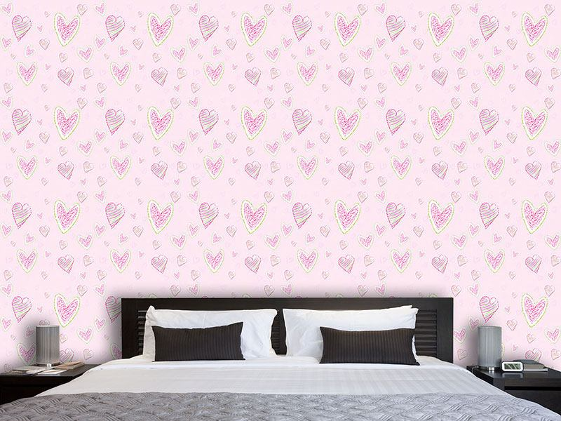 Design Wallpaper We Draw Hearts
