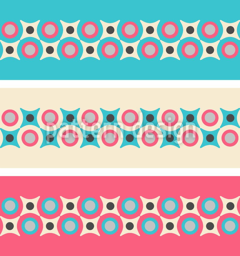 Papier peint design Retro Borders