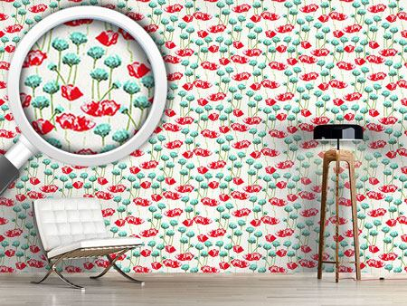 Design Wallpaper Poppy Potpourri
