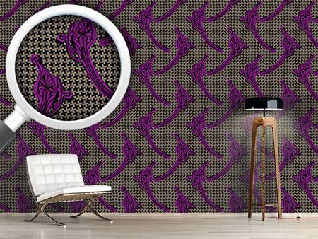 Design Wallpaper Houndstooth Callas