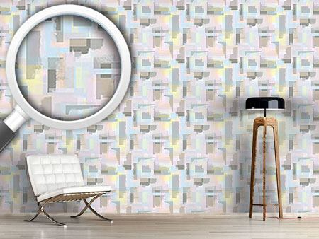 Design Wallpaper Paint Roller Geometry