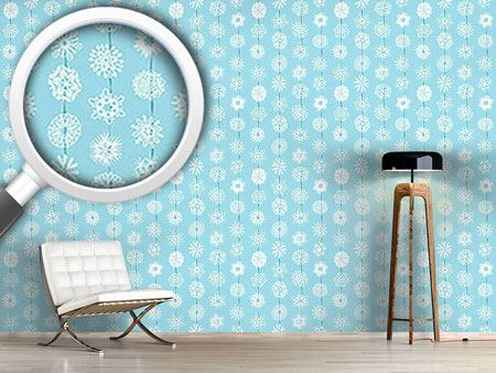 Design Wallpaper Snowflakes From Paper