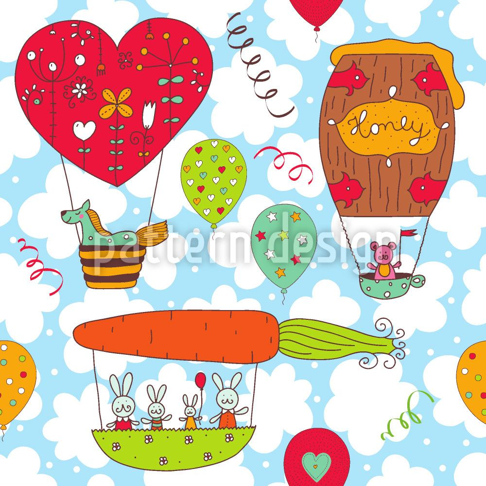 Papier peint design Honeypennies Balloon Trip