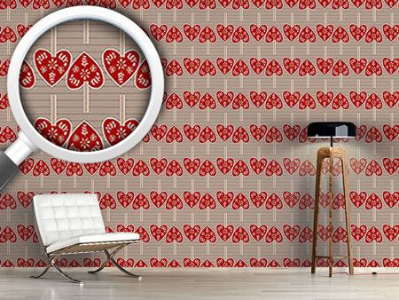 Design Wallpaper Heart Pendants