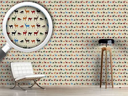 Design Wallpaper Reindeer Gathering