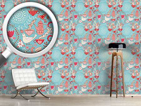 Design Wallpaper Tea Party