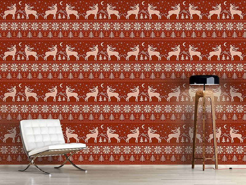 Design Wallpaper Roaring Deer In Norway