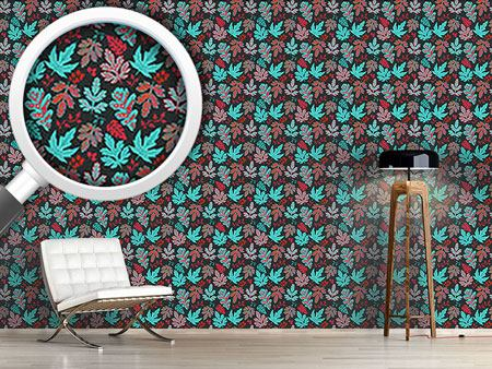 Design Wallpaper Leaf Baroque In Fire And Ice