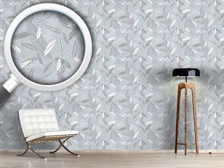 Design Wallpaper Feathers In The Wind