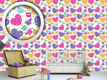 Design Wallpaper Hearts Need Water And Love