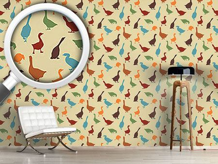 Design Wallpaper Gabbling Goose