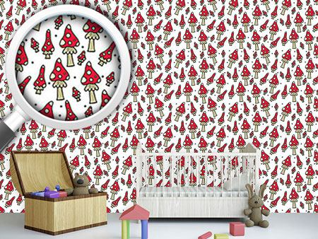 Design Wallpaper Fly Agarics