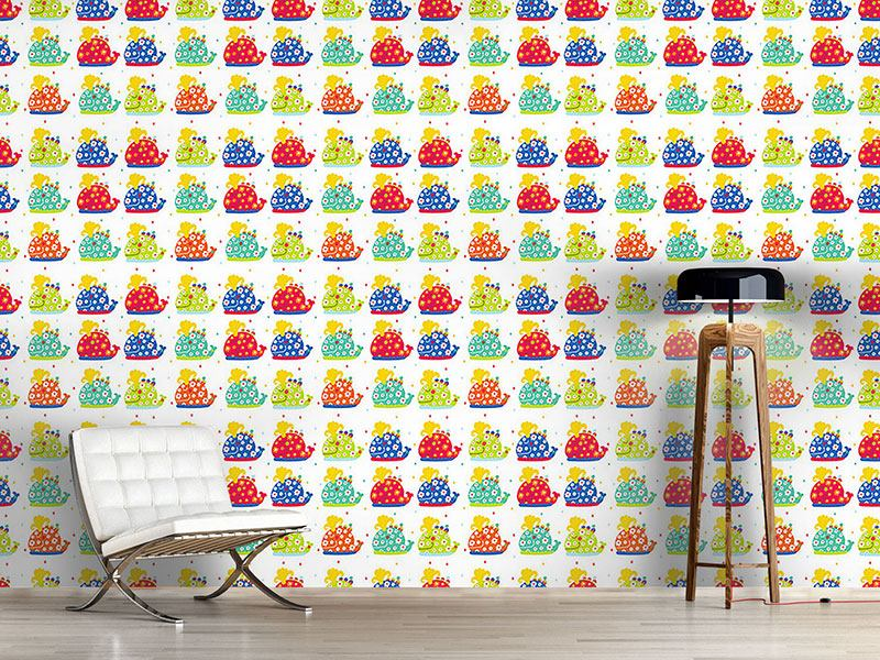 Design Wallpaper The Patchwork Whales