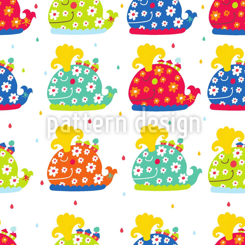 Papel tapiz de diseño The Patchwork Whales