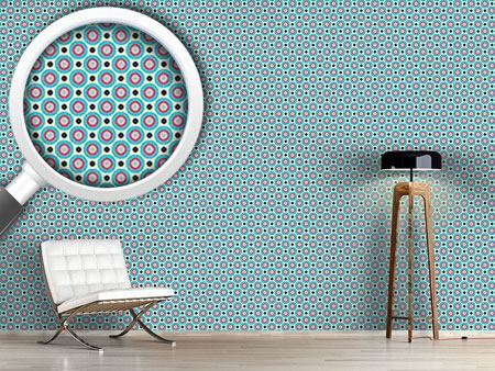 Papier peint design Retro Dots