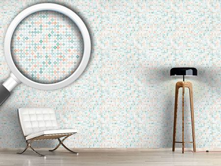 Design Wallpaper Delicate diamond mosaic