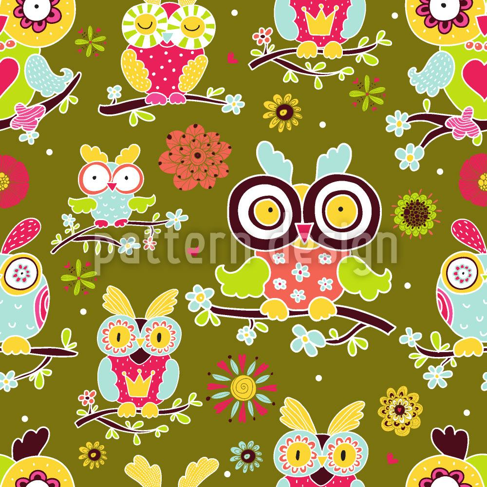 Papier peint design Owls Guard
