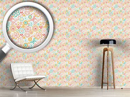 Design Wallpaper Butterflies And Flowers Awakening